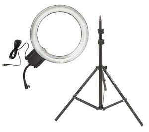 diva ring light super nova 18 photo video fluorescent light with 6 39 light stand ebay. Black Bedroom Furniture Sets. Home Design Ideas