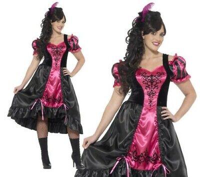 Erwachsene Sassy Salon Kostüm Übergröße Curves Wilder Westen Damen-Kostüm Schick