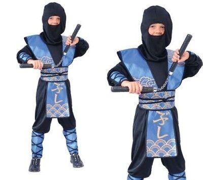 Deluxe Ninja Warlord Kämpfer Jungen Kostüm Japanisch Halloween Kinder Kostüm