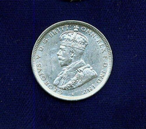 AUSTRALIA GEORGE V  1917-M  1 SHILLING SILVER COIN  ALMOST UNCIRCULATED