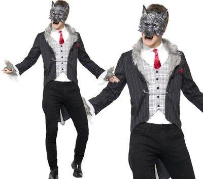 Großer Böser Wolf Kostüm Herren Halloween Kostüm Deluxe Märchen M-XL