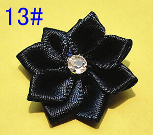 50satin the ribbon flowers with the Appliques Craft DIY Wedding to pick 28colors