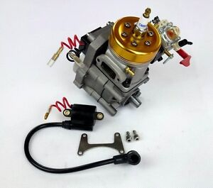 29 5cc marine engine for rc gas boat compatible with rcmk for Gas rc boat motors