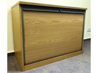 Sliding Door Wood Effect Cupboard Bookshelf