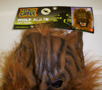 Werewolf Wolf Brown Monster Wig Mask - Brown Wolf Mask