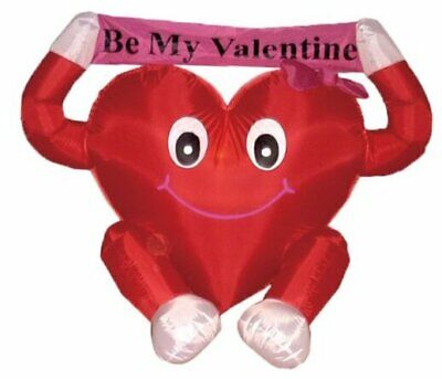 4 Foot Valentine's Inflatable Sweet Heart LED Blow Up Lighted Decor Indoor