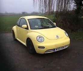 VW beetle bright yellow