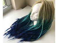 BOX BRAIDS   ombre hair extensions   braiding   handmade