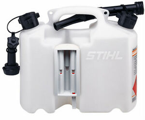 STIHL Fuel Combi Can. Twin Transparent Holds 5 Litre Fuel / 3 Litre Chain Oil