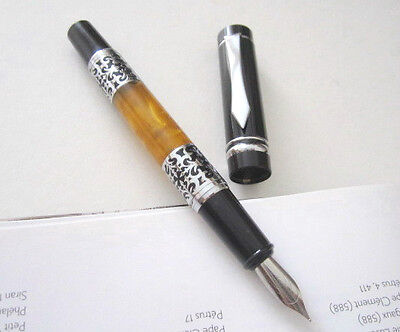 Beautiful Solid Replica Amber Heavy Body Fountain Pen - SN