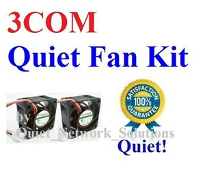 3COM BASELINE Switch 2824-SFP (3C16479) Quiet Fan Kit 2x 18dBA Noise Fan