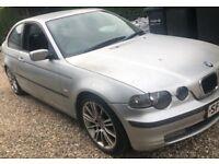 2002 BMW 320 DIESEL COMPACT - SPARES OR REPAIR £400