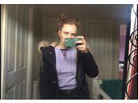 TOPSHOP black parka winter rain jacket