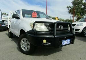 2008 Toyota Hilux KUN26R MY08 SR White 5 Speed Manual Utility