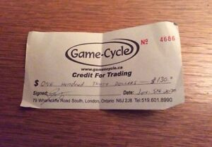 Credit for game cycle