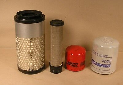 Kubota Zg222 Gas Filter Kit With Inner And Outer Air Filter