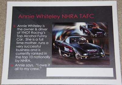 2001 Mike Preslar Alliance Chevy Corvette Z06 Funny Car IHRA postcard