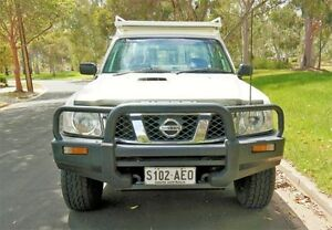 2010 Nissan Patrol GU 6 MY10 DX White 5 Speed Manual Cab Chassis Underdale West Torrens Area Preview
