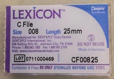 Dentsply Tulsa Dental Lexicon C-file Endo Hand Filesize .08 Length25mm