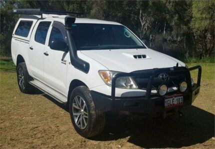 2007 Toyota Hilux KUN26R 07 Upgrade SR (4x4) White 4 Speed Automatic Dual Cab Pick-up Cannington Canning Area Preview