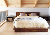 RUSTIC BED FRAME AND HEAD BOARD ON ORDER
