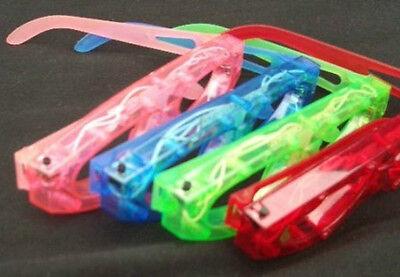 12 pcs Blinking Eyeglasses Multicolor LED Light Up Flashing