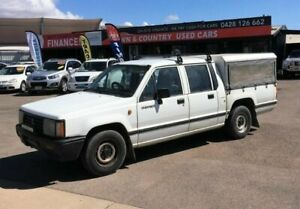 1992 Mitsubishi Triton MJ DL Double Cab White Manual Utility Garbutt Townsville City Preview