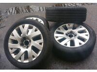 Citroen C4 x4 Alloy Wheels and Tyres 205/50/17