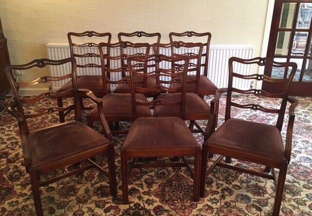 132ce58c5e2db Mahogany Dining Chairs in Excellent Condition! 8 in total but will sell in  pairs!