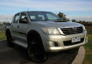 2011 Toyota Hilux KUN26R MY12 SR Double Cab Silver 4 Speed Automatic Utility Officer Cardinia Area Preview