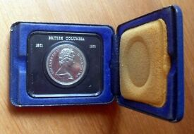 Canadian 1 Dollar Collector's British Columbia 1871 – 1971 commemorative coin