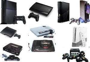 J'acheter Des Ensemble de PS4 PS3 Xbox 360 N64, Gamecube SNES