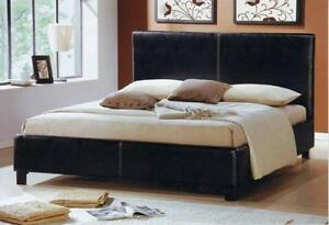 QUEEN SIZE FAUX LEATHER BED ON SALE $169   LOWEST PRICES GUARANTEED