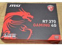 4GB Graphics card. MSi Gaming 4G Radeon R7 370 4GB GDDR5 GPU