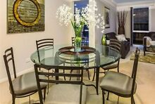 Fabulous smoked glass dining table / 8 chairs - cost over $5000! Vermont South Whitehorse Area Preview