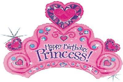 TIARA Happy Birthday PRINCESS Party PINK Purple 34