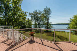 Private, waterfront home right in town of Midland