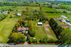 FARM WITH HOME AND HORSE BARN ON 10 ACRES NEAR 412 & 407