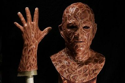 Halloween freddy silicone mask hand incubus deluxe flesh - Silicone Halloween Masks