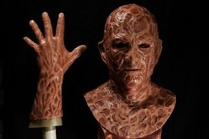 Halloween evil silicone freddy mask hand incubus deluxe flesh version