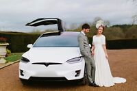Luxury TESLA Wedding Limo