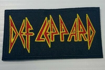 Def Leppard Rock Band Retro Vintage Style Punk Music Iron on Patch Applique NEW