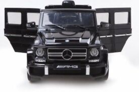 Licensed Mercedes G63 Amg G wagon kids ride on car with parental control 12 electric music and light
