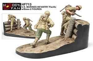 hobby fan 1/35 U.S. Marines Infantry Pacific W/Base 2 figures resin