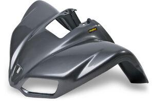 NEW KAWASAKI KFX 700 PLASTIC BLACK CARBON FIBER FRONT FENDER PLASTICS