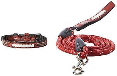 Arkansas Toy - NCAA Arkansas Razorbacks Football Leather Pet Collar & Leash Set TOY size Collar