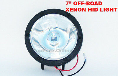 """35w HID SPOT LIGHT 4X4 XENON 7"""" 24volt RALLY STYLE ROUND DRIVING BEAM MUST GO"""