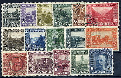 BOSNIA & HERZEGOVINA 1910 Birthday set used