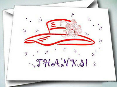 - 6 NOTE CARDS W/ ENVELOPES RED HAT TEA SET