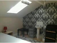 Loft furnished room in friendly shared house near city center & Salford university